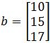 vector b, finding if the vector is in the column space of A