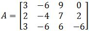 Find a basis for the column space of A