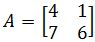 Find all the eigenvalues of the 2 x 2 matrix