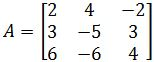 Find all the eigenvalues of the 3 x 3 matrix
