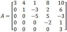 Find all the eigenvalues of the triangular matrix