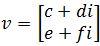 complex vector v