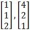 corresponding eigenvectors 1, 2