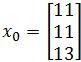 initial vector x_0