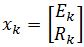 initial vector k