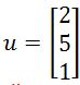 Calculating the Distance, vector u