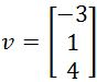Calculating the Distance, vector v