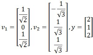 Verify these vectors are an orthonormal set