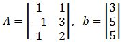 Find a least-squares solution