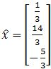 least-squares solution of Ax=b