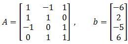 Find the Least Squares Error