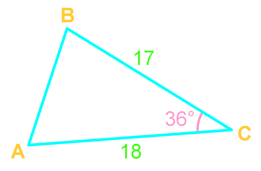 Law of cosines and side lengths of triangles