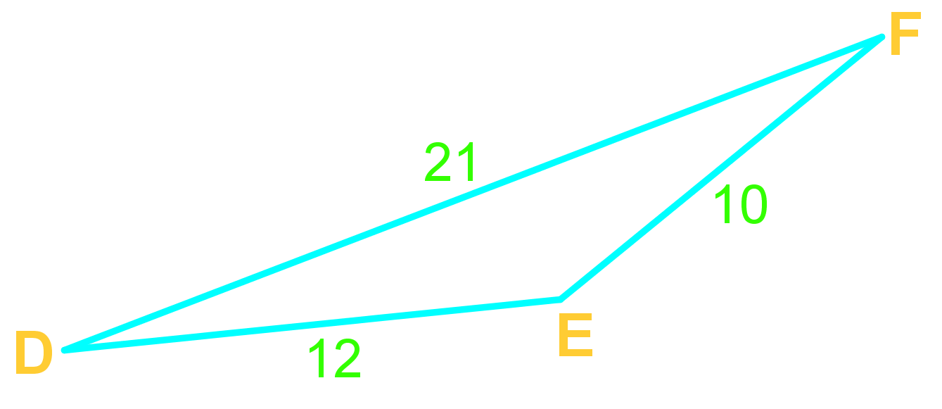 Law of cosines and angles in triangles