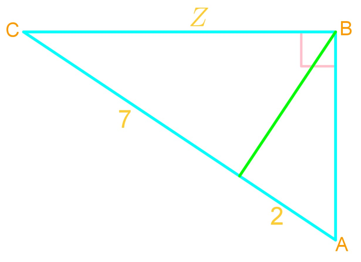 Geometric mean in a geometry question: solve for the missing side lengths of triangles