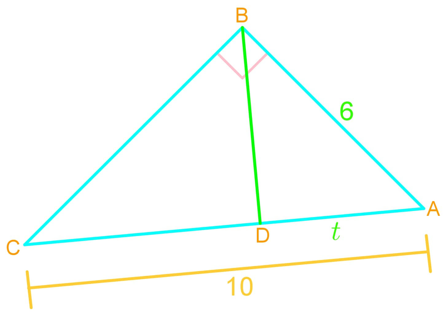 Geometric mean and questions about triangles