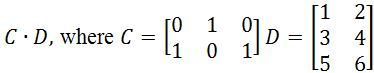 Multiplying a matrix by another matrix