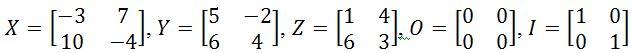 Verify the properties of matrix to matrix multiplication