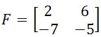 The determinant of a 2 x 2 matrix