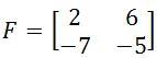 The determinant of a 2 x 2 matrix