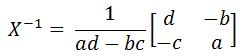 formula for finding the inverse of a matrix