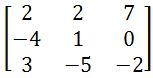 The inverse of 3 x 3 matrix with determinants and adjugate