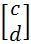 unit vector c and d