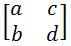 transformation matrix a, b ,c ,d