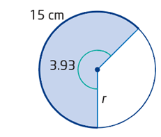 Using angle in radian and arc length to calculate radius