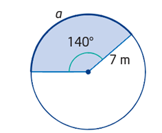 Using angle in degree and radius to calculate arc length
