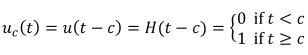 Heaviside Step Function Equation