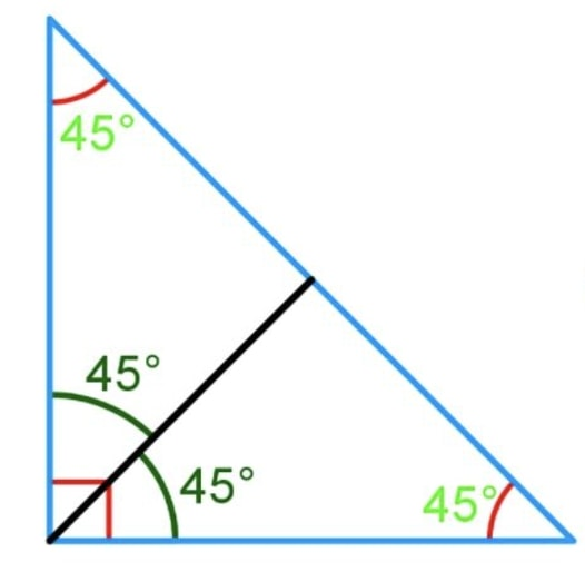 How to bisect a triangle into two small triangles with identical area