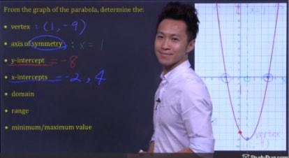 characteristics of function: x-intercept