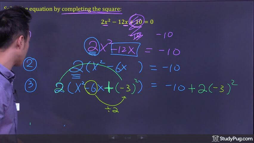 completing the square step 5