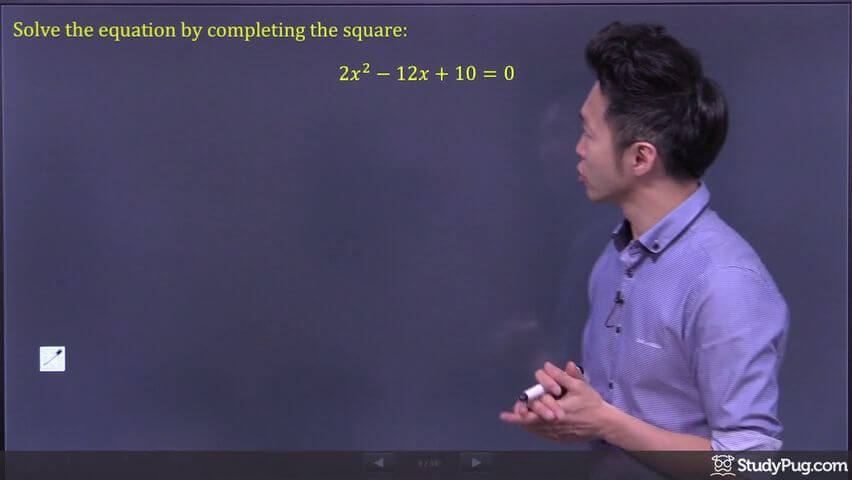completing the square step 1