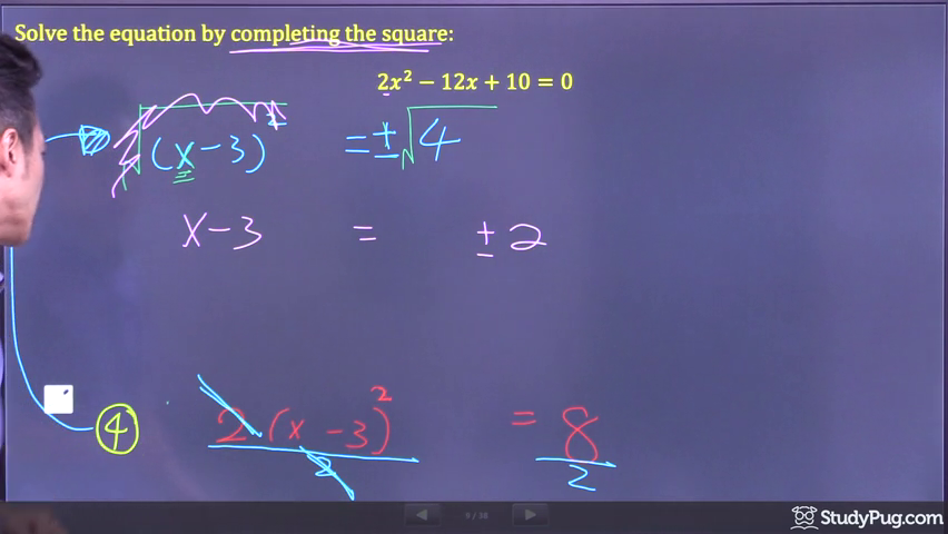 completing the square step 7
