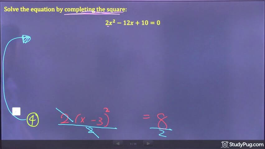 completing the square step 6