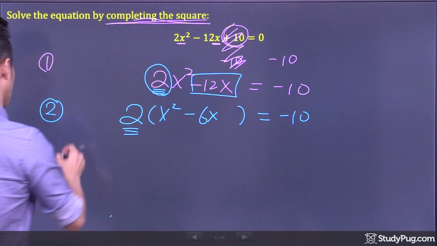 completing the square step 3