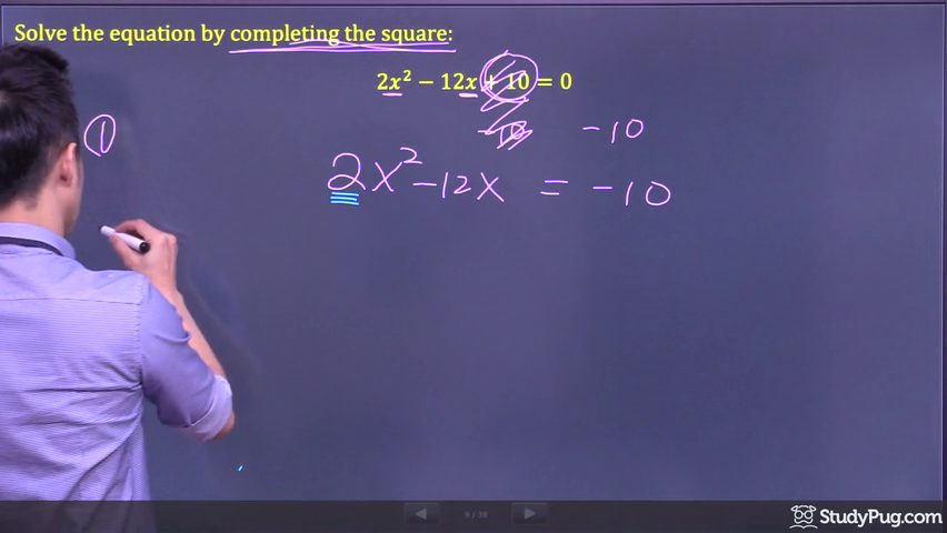 completing the square step 2