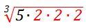 cubic radical 5-2-2-2