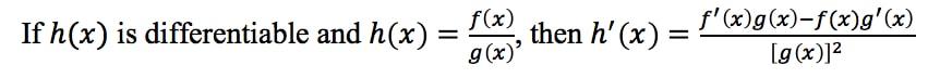 Definition 2: Quotient Rule