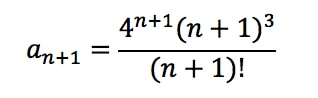 Equation 1: Convergence Ratio test pt. 3