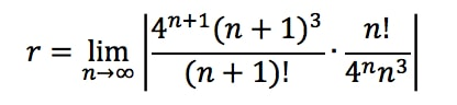 Equation 1: Convergence Ratio test pt. 5