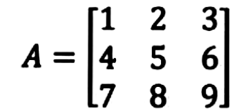 Equation 1: Example of a matrix