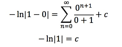 Equation 1: Power Series Representation integral pt.4