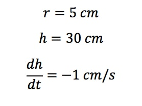 Equation 1: related rates cone problem pt.1