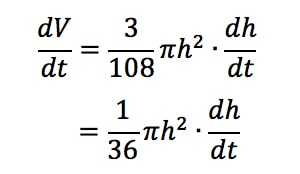 Equation 1: related rates cone problem pt.10