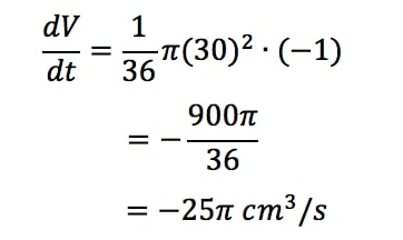 Equation 1: related rates cone problem pt.11