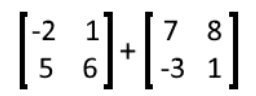 Equation 10: Addition of two matrices