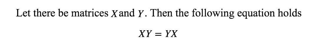 Equation 10: Failure of Commutative Property pt.1