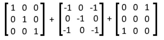 Equation 12: Addition of three matrices